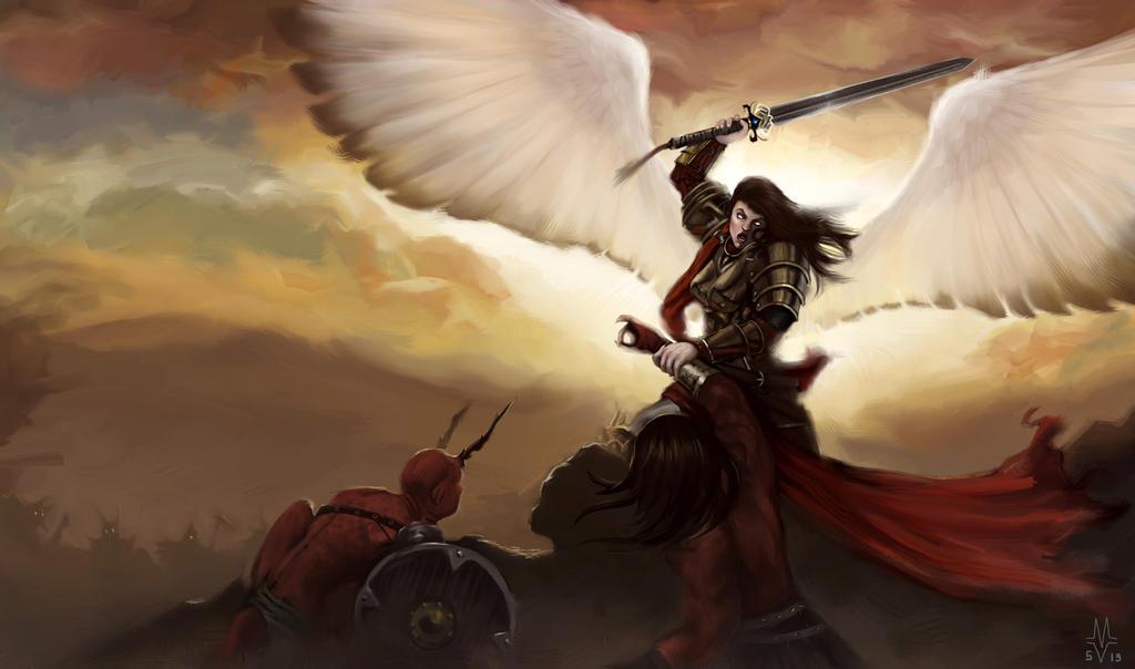 Your prayer makes God's angels fight demons
